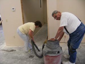 Getting ready for new flooring for First Presbyterian Church Huntsville Arkansas