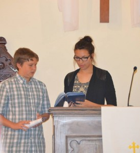 Youth Sunday- Reading of the Word First Presbyterian Church Huntsville Arkansas
